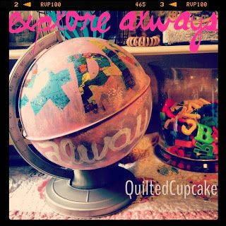 Quilted Cupcake Pink Globe project