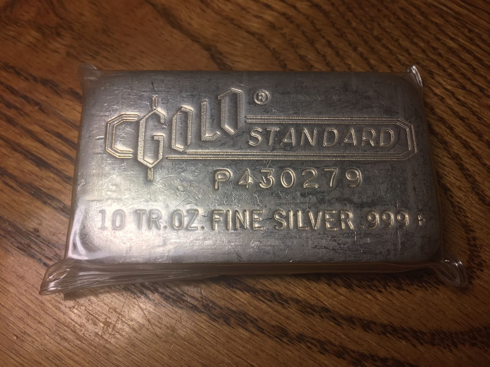 Engelhard 10 Troy Oz 999 Silver Poured Bar Gold Standard Seldom Seen For Sale Silver Branded Mints Gold