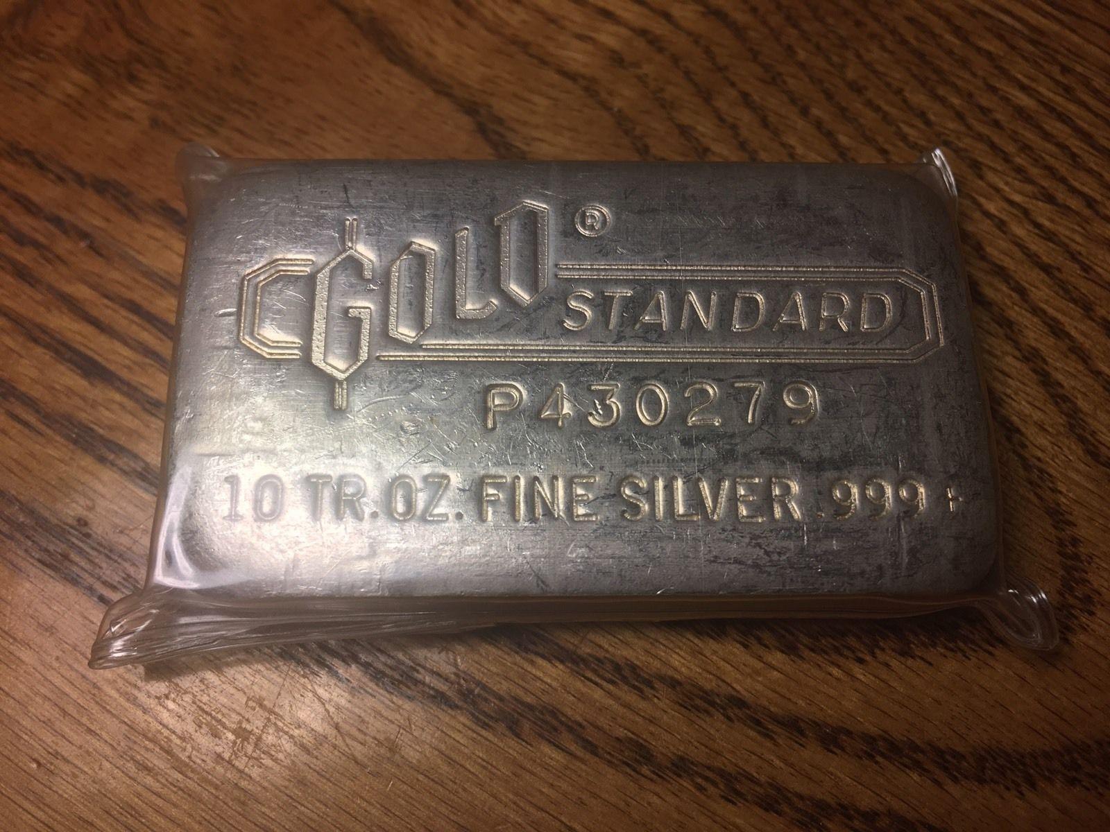 Engelhard 10 Troy Oz 999 Silver Poured Bar Gold Standard Seldom Seen For Sale Silver Silver Bars Gold