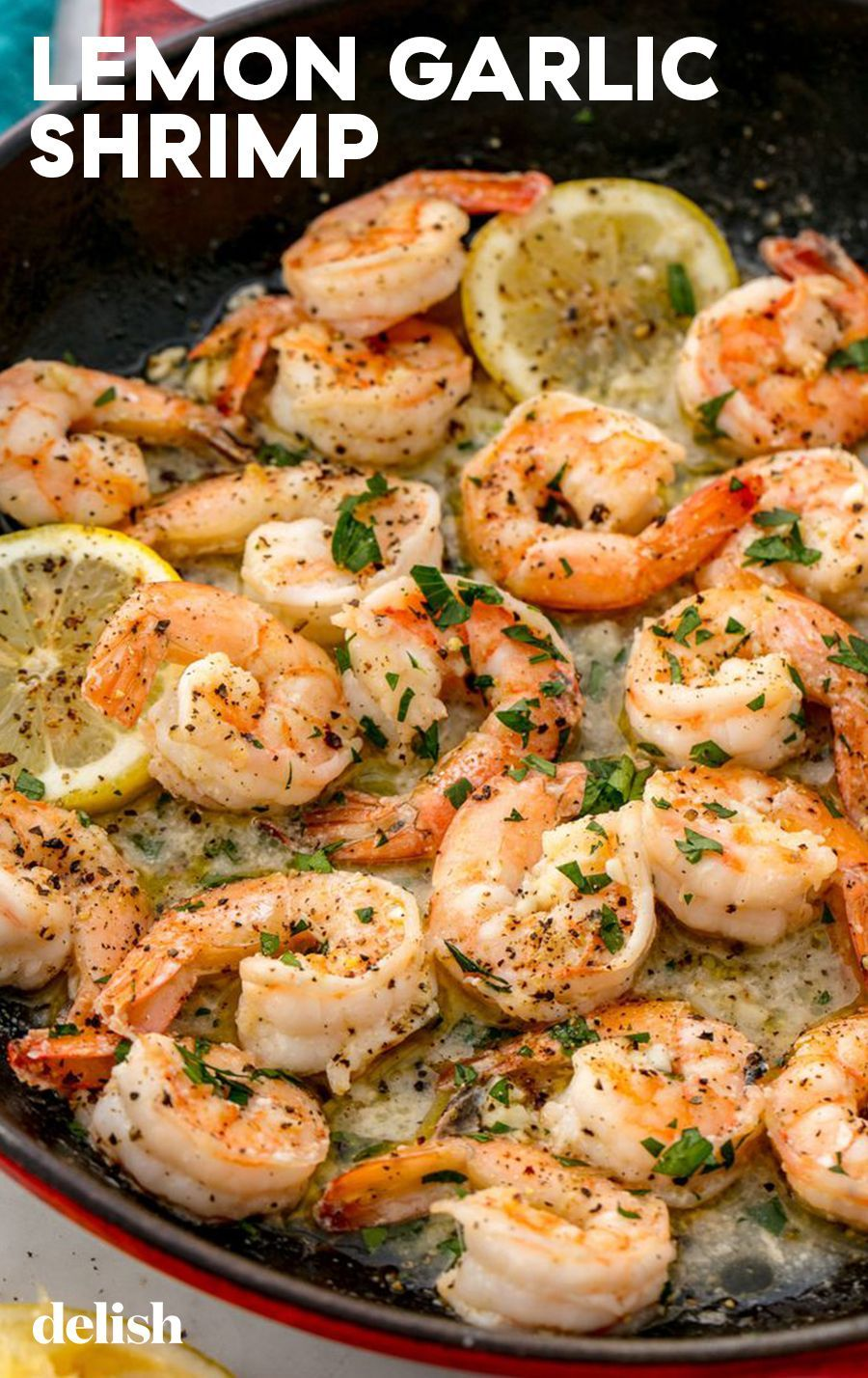 Lemon Garlic Shrimp Lemon + garlic + shrimp = a seafood lover's absolute dream. Get the recipe at .