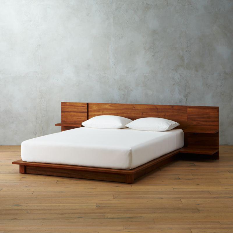 Andes Acacia King Bed + Reviews CB2 Bed frame and