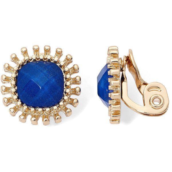 Monet Jewelry Monet Jewelry Blue Clip On Earrings 24RTN