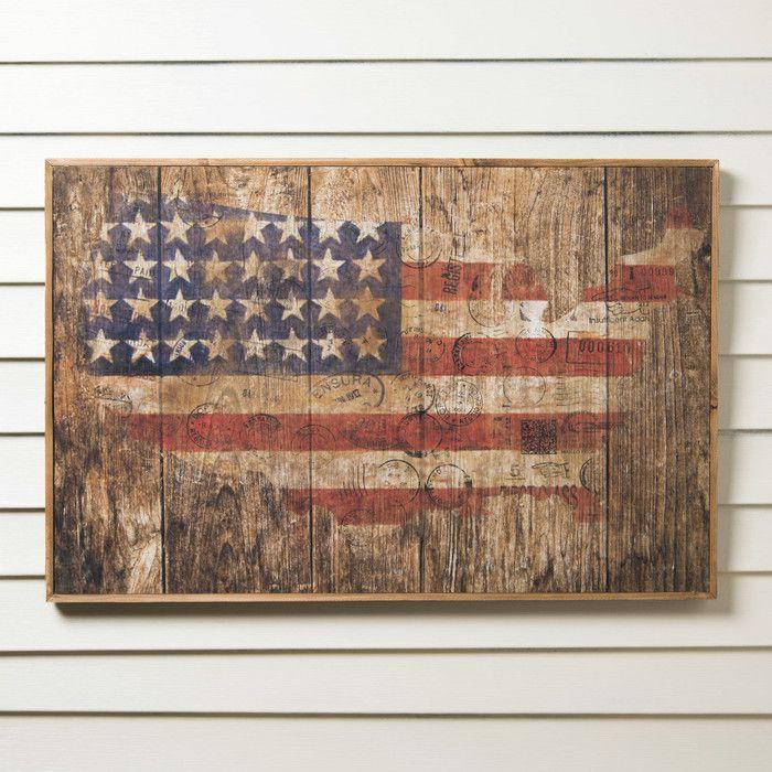 Birch lane american flag wood wall art birch lane