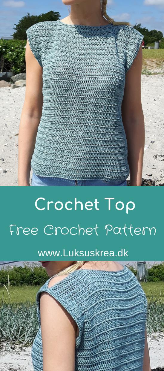 Hæklet Sommertop Med Skulderkig Adult Women Crochet Patterns