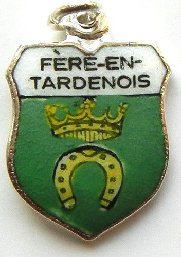 Fère En Tardenois France Enamel Travel Shield Charm | eBay