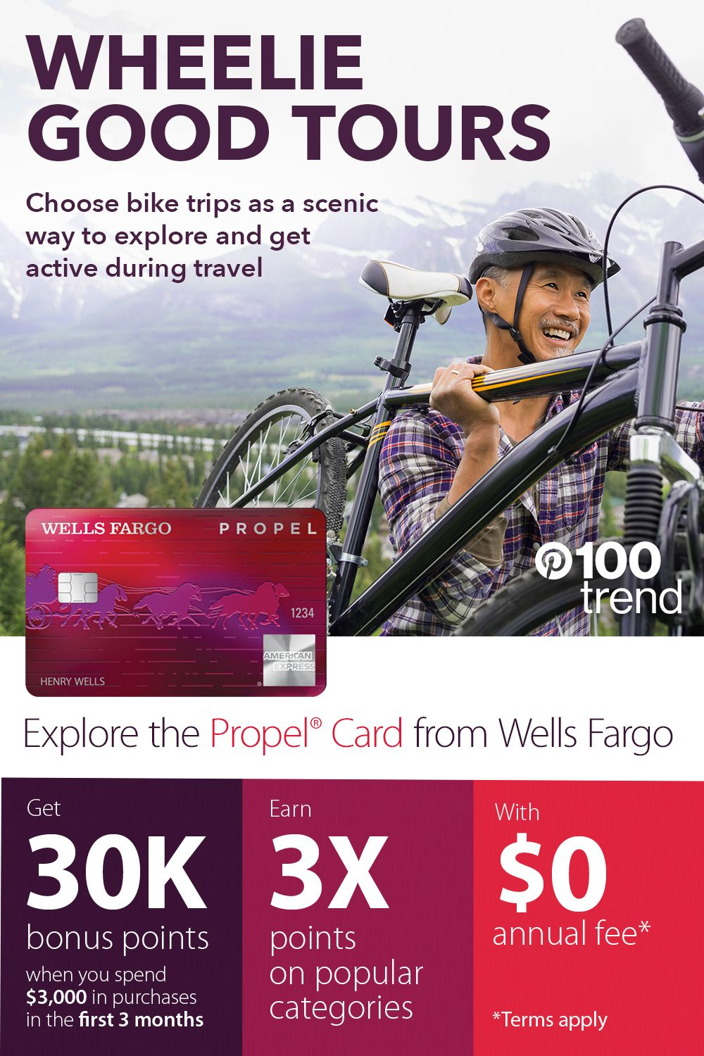 Choose bike trips as a scenic way to explore and get