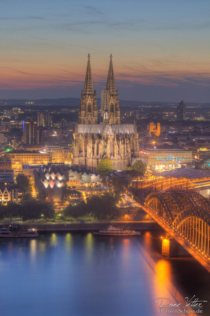 Cologne Cathedral with evening, Germany