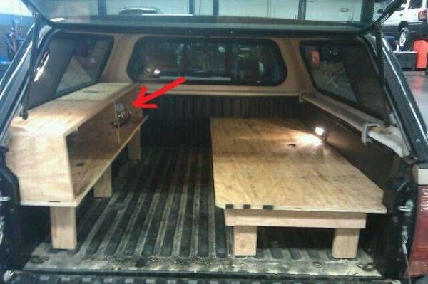 truck bed topper camper conversiono