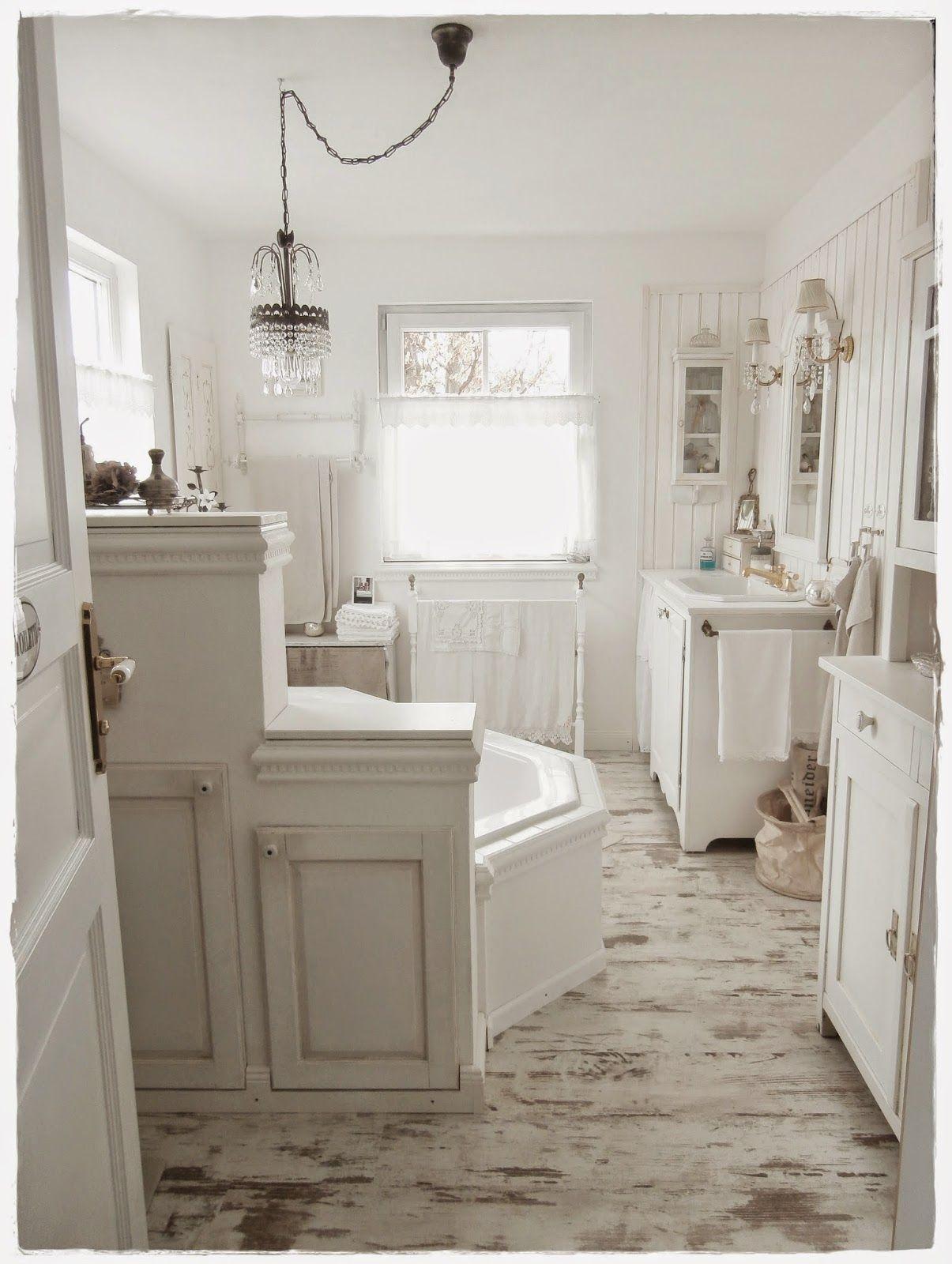 Una favolosa stanza da bagno in stile shabby chic Stanza
