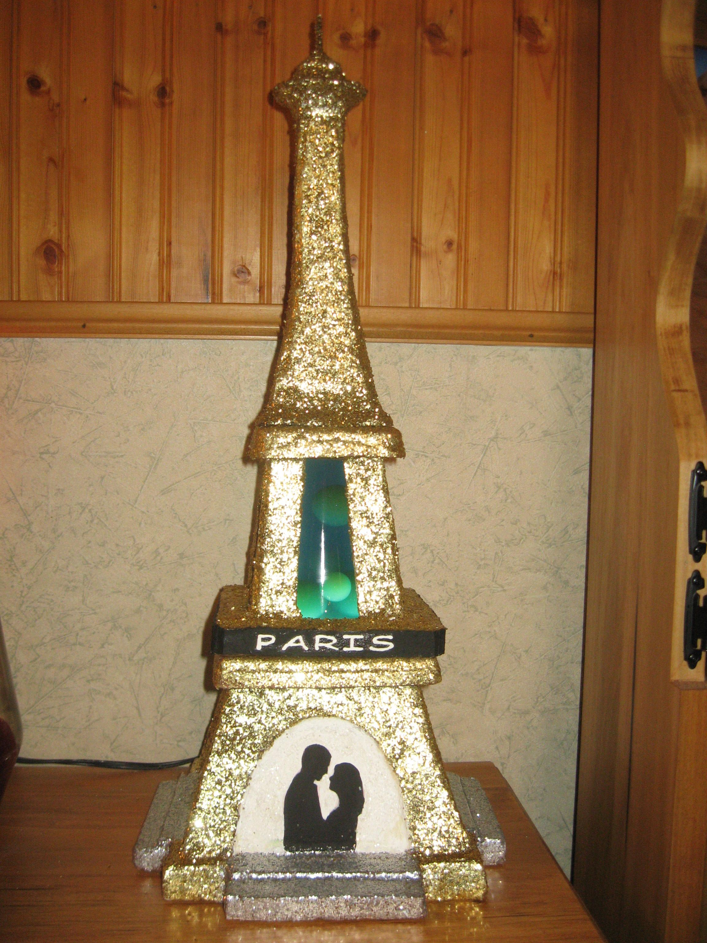 The Eiffel Tower Lava Lamp Was Made For My Son S Girlfriend She Hopes To Have A Honeymoon In Paris Lava Lamp Cool Lava Lamps Wine Bottle Tiki Torch