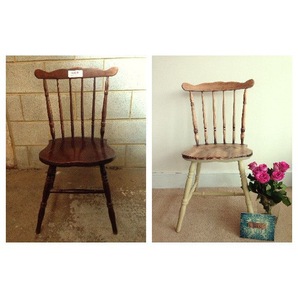 Before and After Dip Dye Farmhouse Chair Everything Has A Story - Vintage & Upcycled