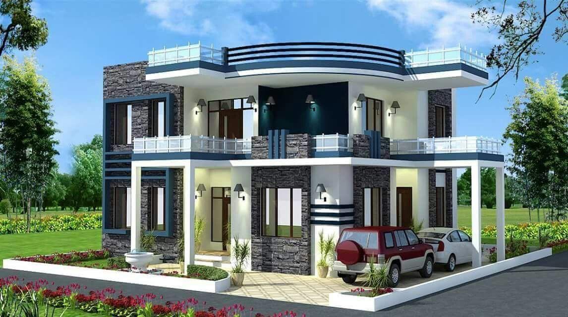 Pin de monicabonilla en dise os casas pinterest for Fachadas duplex minimalistas