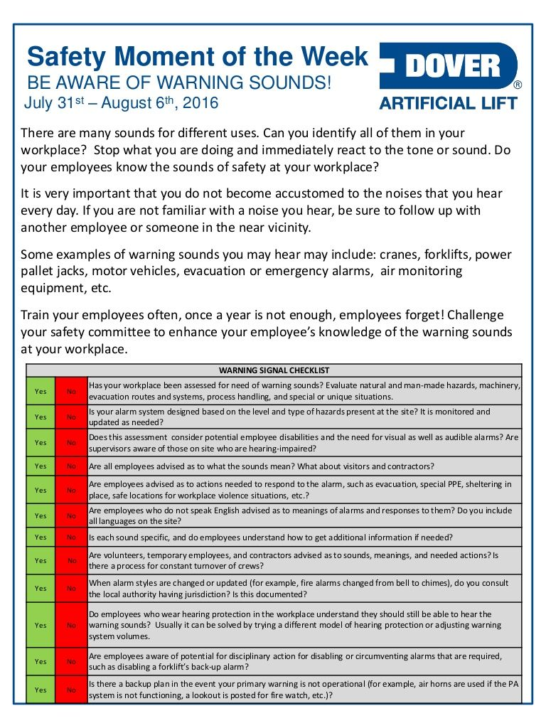 Be Aware Of Warning Sounds Alberta Oil Tool S Safety Moment Of