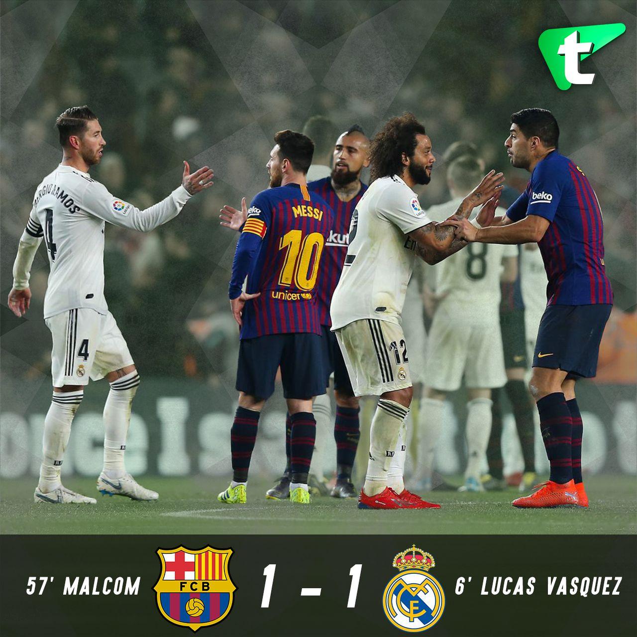 Barcelona 1 1 Real Madrid Real Madrid Football Barcelona