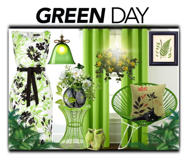 """""""Green Day"""" by slynne-messer ❤ liked on Polyvore featuring interior, interiors, interior design, home, home decor, interior decorating, Home Expressions, Precis Petite, Southern Enterprises and Innit"""