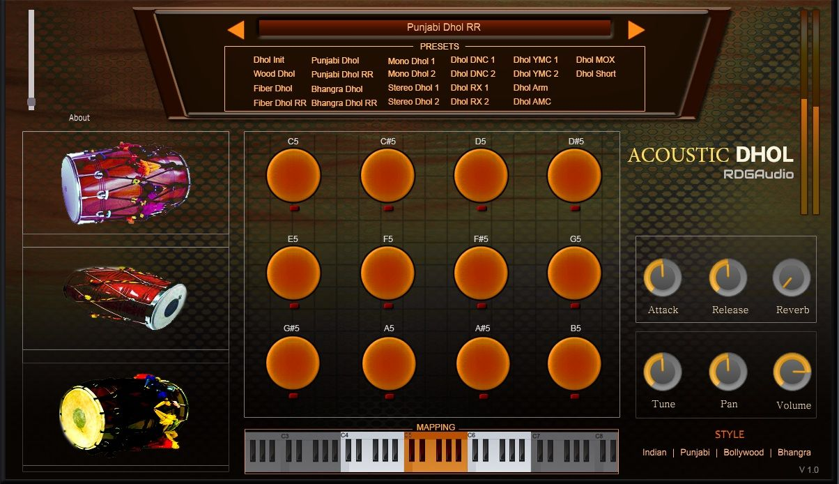 Acoustic Dhol Rdgaudio Indian Au Vst Plugins Indian Instruments Free Plugins