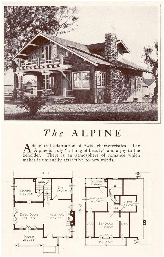 Tiny Bungalow 1922 Alpine Lewis Manufacturing Vintage House Plans Architecture House Plans