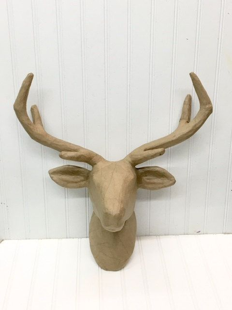 Deer Head Paper Mache Paper Mache Animal Head Nursery Decor Animal