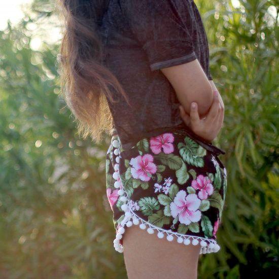 DIY easy pom pom shorts perfect for the summer | DIY Fashion ...