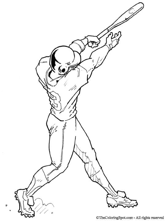 beisbol coloring pages - photo#9