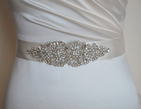 Diamante Sash Wedding Dress Belt Embellishments Belts Bling