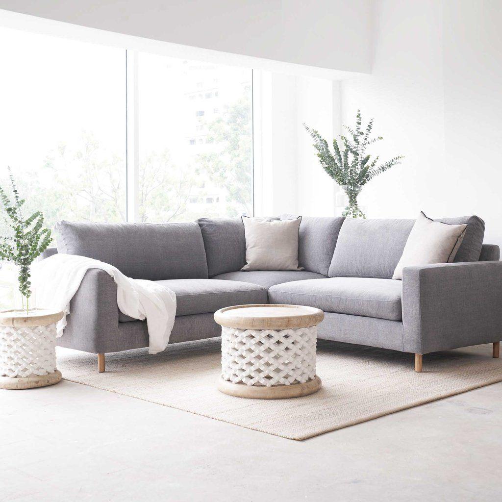 Fabric Corner Sofa Ponte Weathered Grey In 2020 Corner Sofa Sofa Furniture
