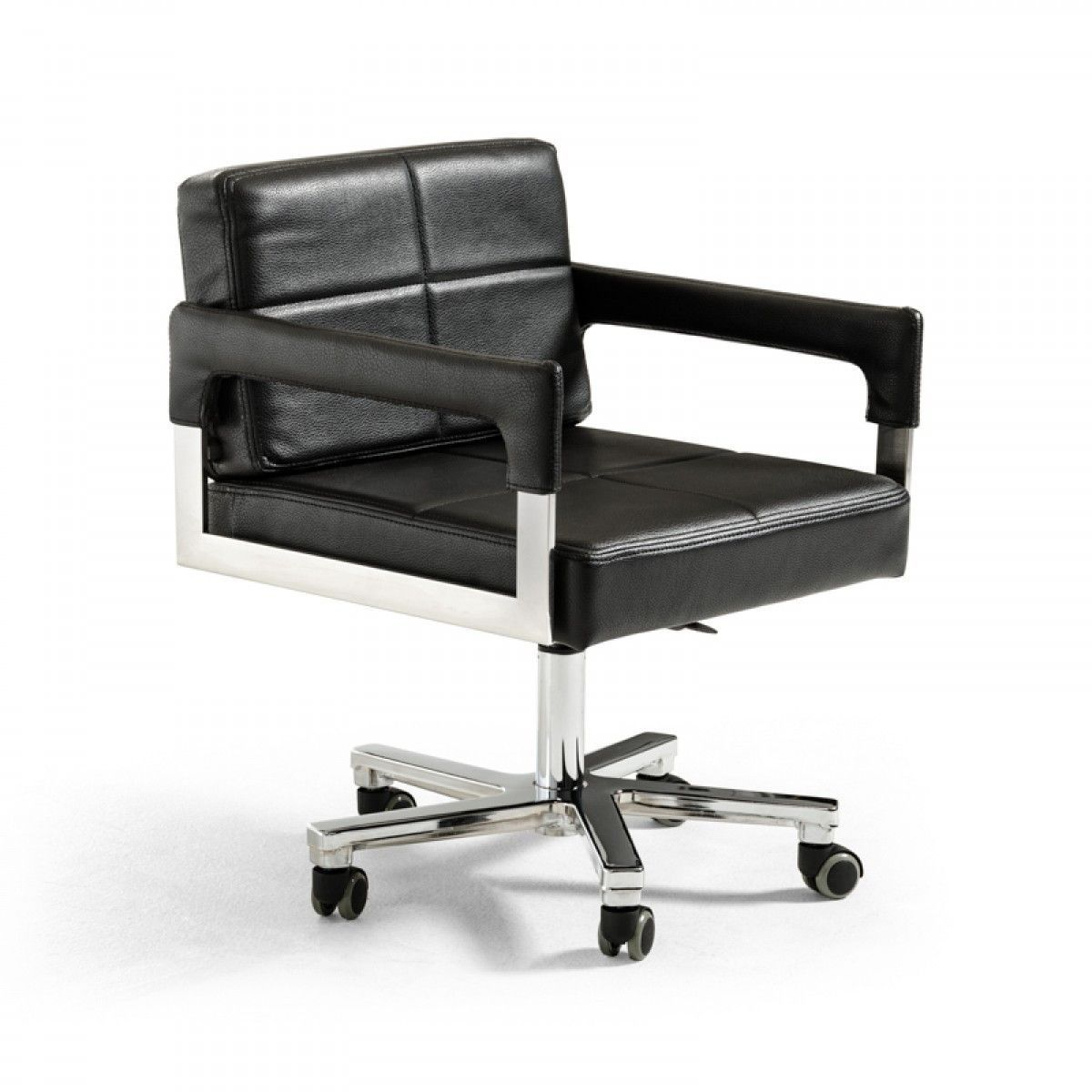 White Modern Office Chair White Rolling To Modrest Craig Modern Black Bonded Leather Office Chair Vgvca508blkproduct 70568features upholstered In Vgvca508