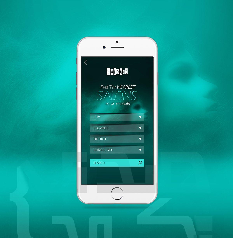 Salonat Search Page Galaxy phone, Samsung galaxy, App design