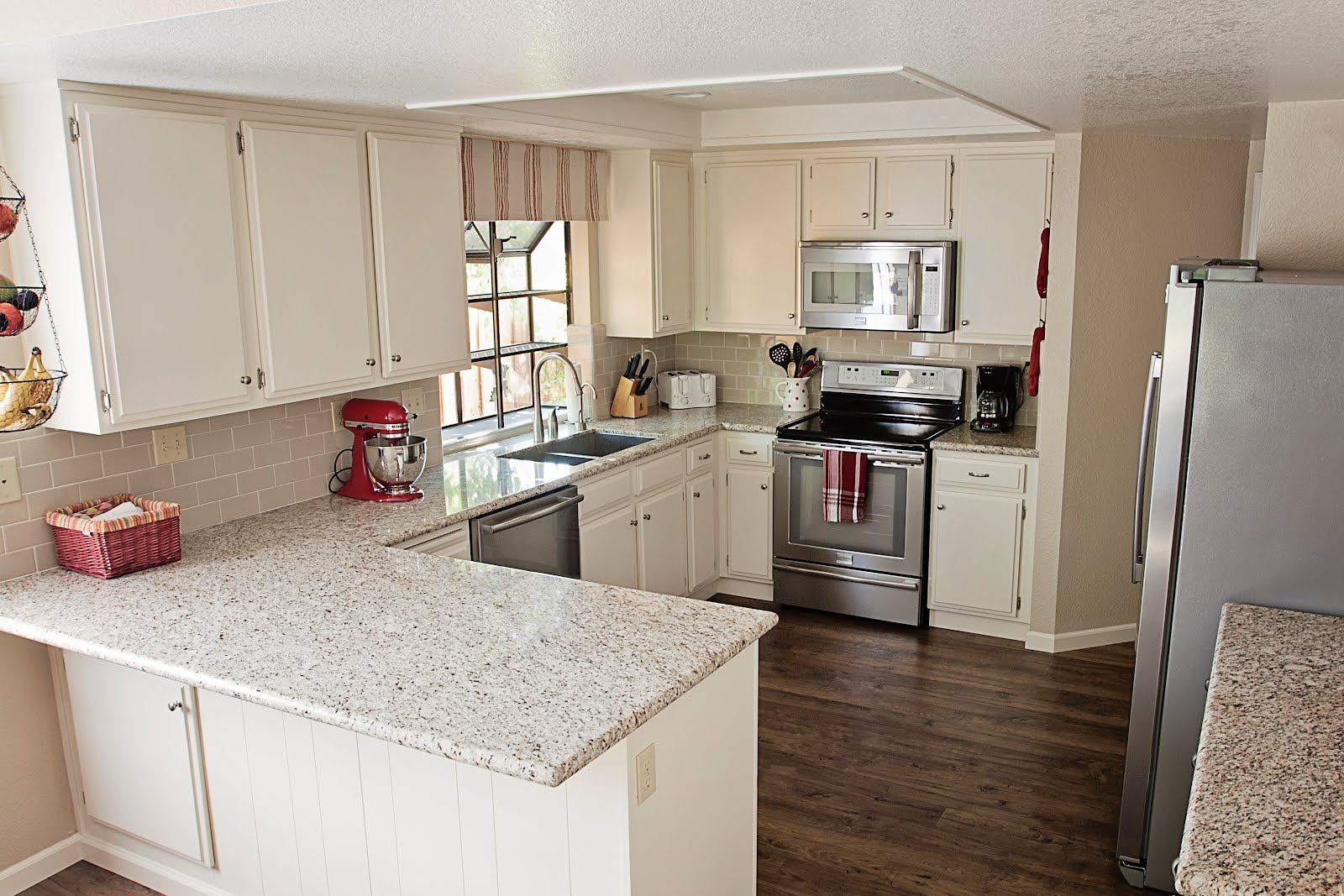 my 80s kitchen gets a major makeover - Behr Paint Kitchen Cabinets