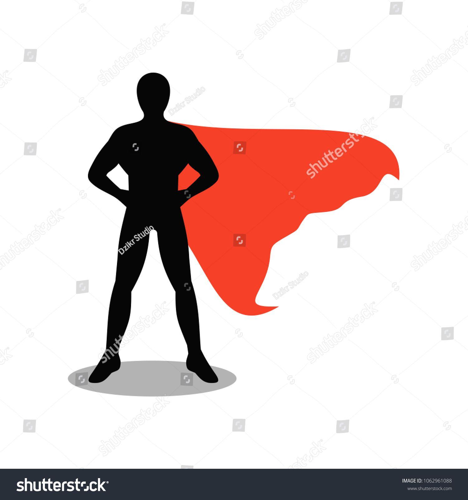 Superhero Pose Silhouette Template Pose Superhero Template Silhouette Silhouette Template Superhero Template Superhero