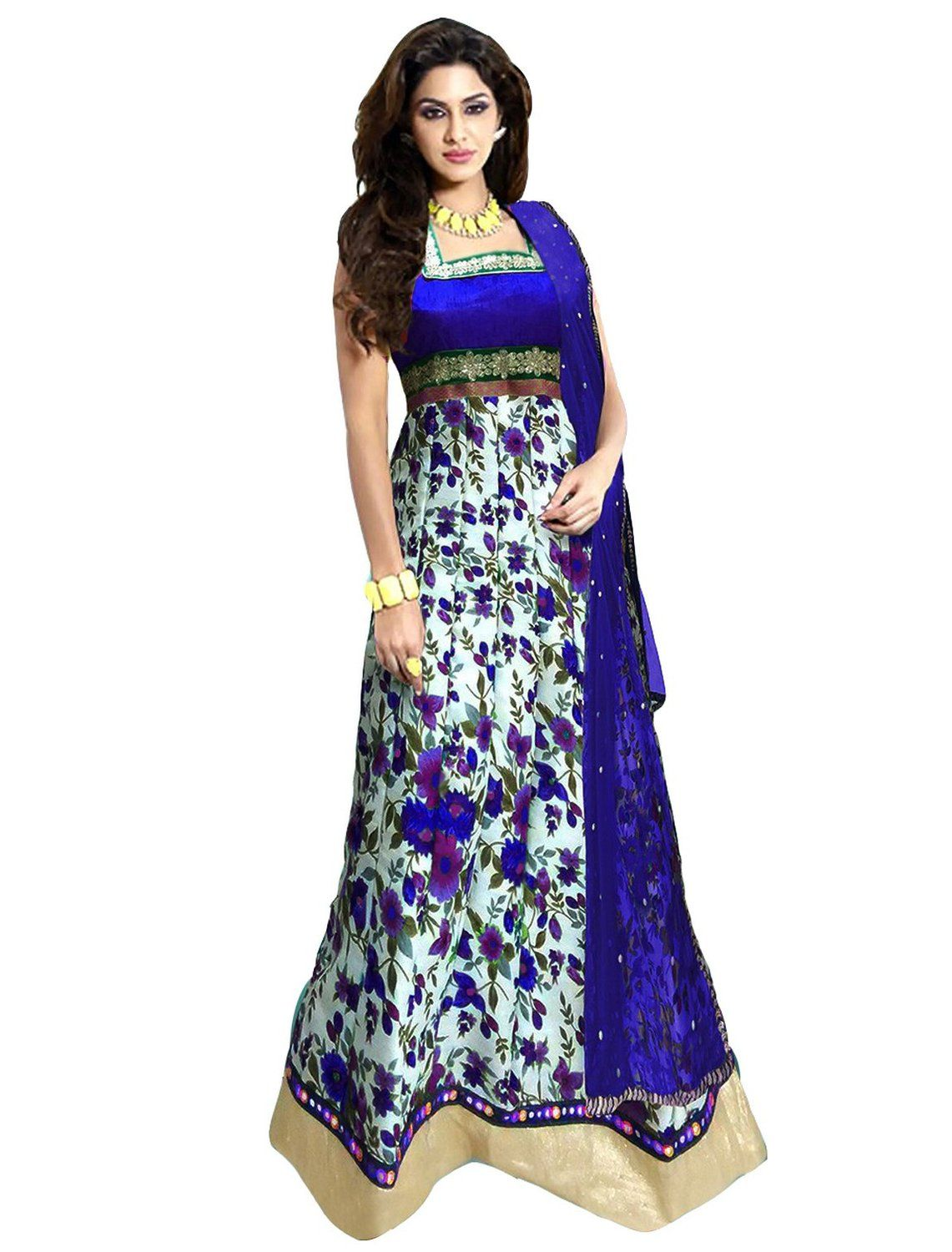Clickedia Women's Bhagalpuri Silk Salwar Suit Dress Material ...