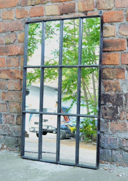 Loft design ipari ablak t k r industrial window mirror industrie fenster spiegel mirrors - Spiegel industrial metal ...