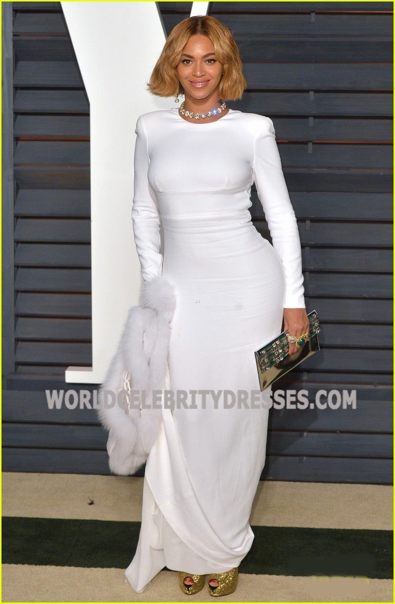 Beyonce White Long Sleeve Celebrity Inspired Dresses For Sale At ...