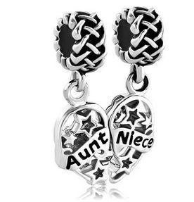 Aunt Niece Best Friends European Charm For Bracelet Or Necklace By Strandedcharm 10 00 Fits Pandora Jewelry