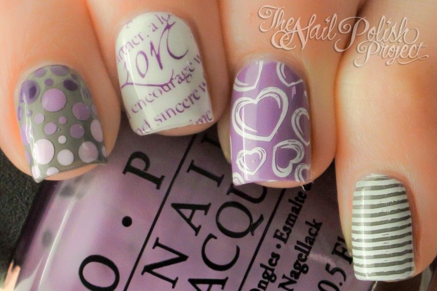 Grey Nail Art Designs For Short Nails Polish | nail ideas ...