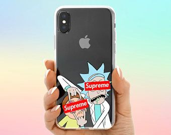 Rick And Morty Supreme Iphone X Case Red 8 Clear 7 Logo 6 Pixel 2 Galaxy S9