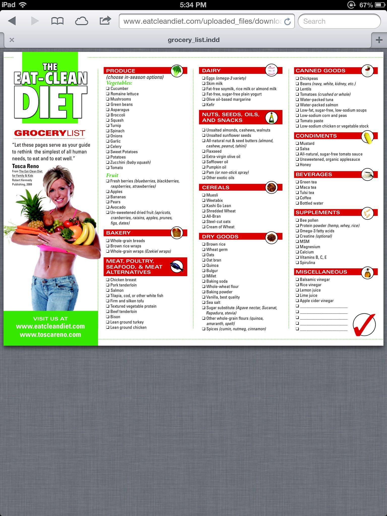 la dieta pulita mangiata da tosca reno