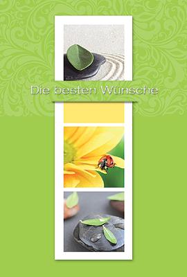 """#Glückwunschkarte zum #Geburtstag """"Die besten Wünsche"""", inkl. Kuvert."""