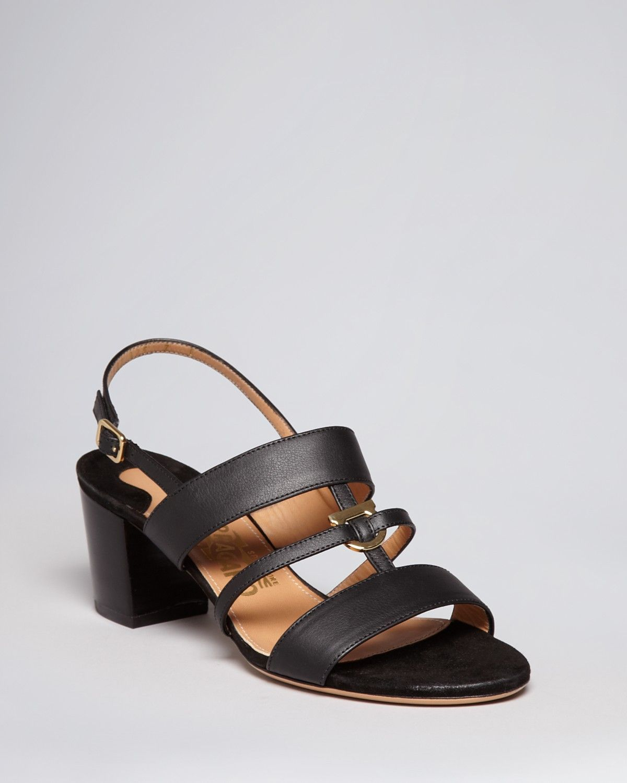 Salvatore Ferragamo Sandals - Sloan Gancio Mid Heel | Bloomingdales