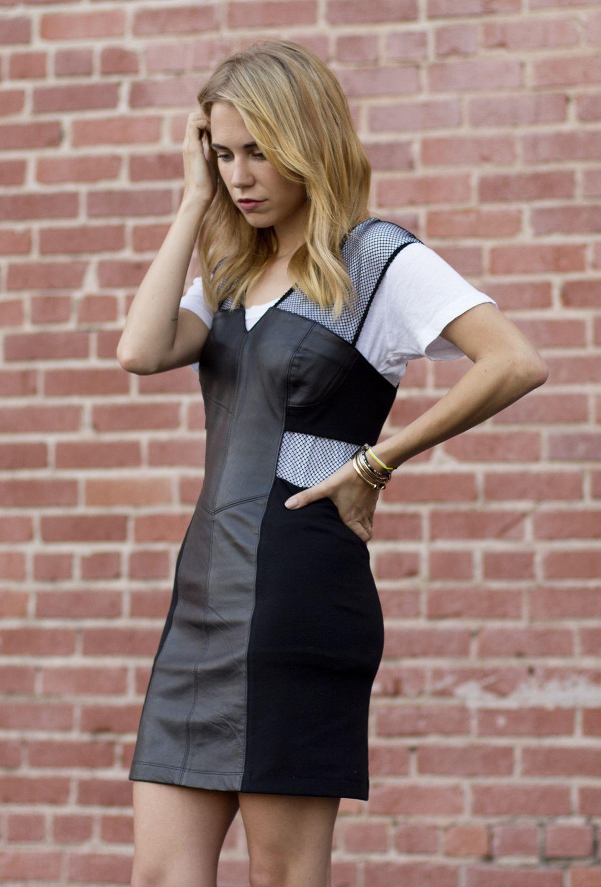 Lna Tee Veda Leather Dress Blogger Always Judging