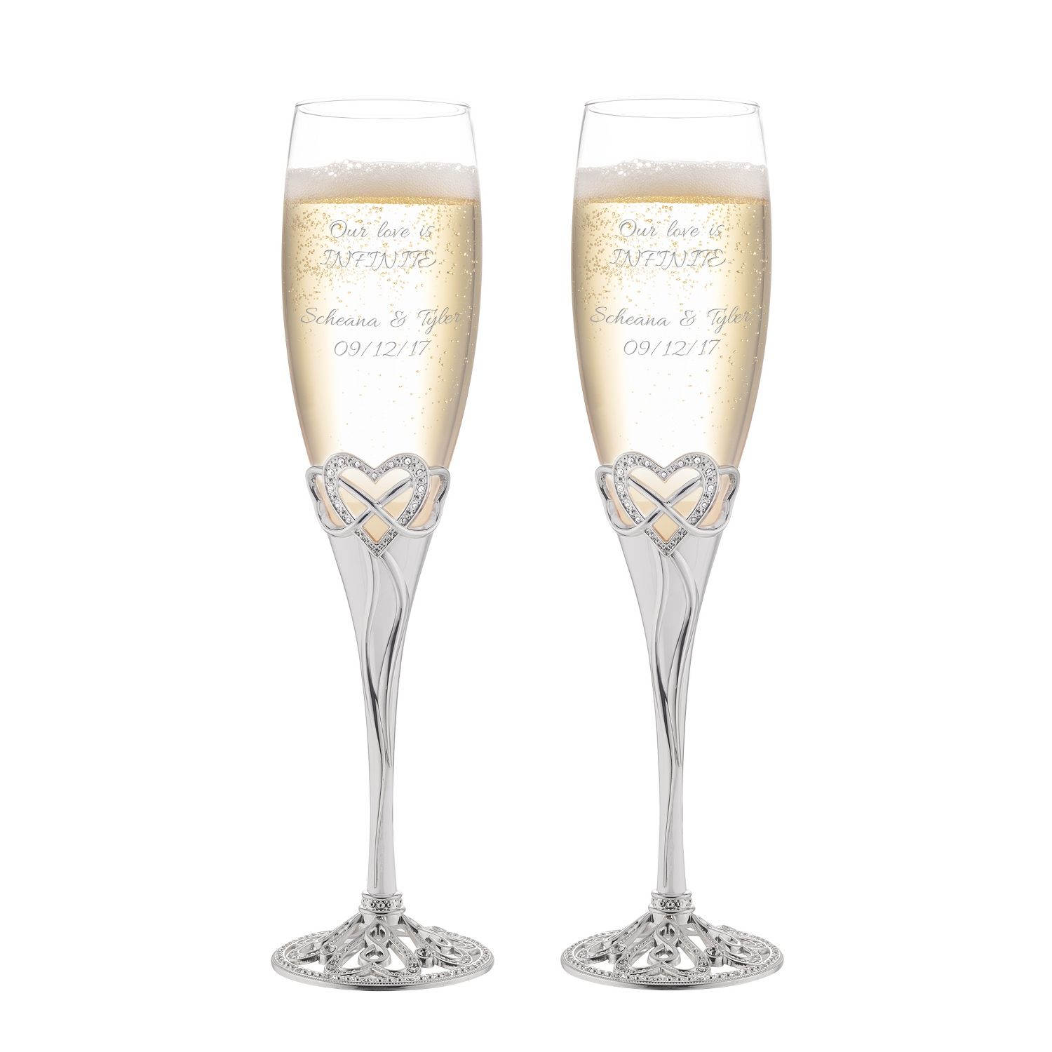 Infinity Heart Champagne Flute Set Champagne Flute Set Champagne Flute Wedding Gifts For Friends