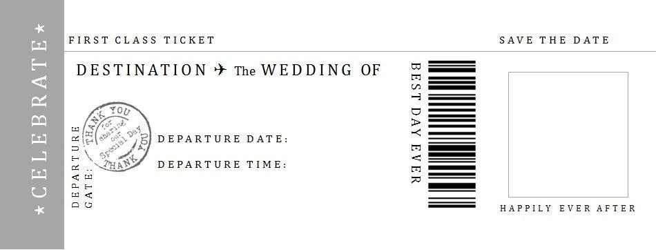 無料テンプレート ゲストもワクワク ボーディングパス型招待状の作り方 Arch Daysペーパーアイテム 招待状 無料テンプレート Wedding Arch Days ボーディングパス 結婚式 招待状 無料テンプレート