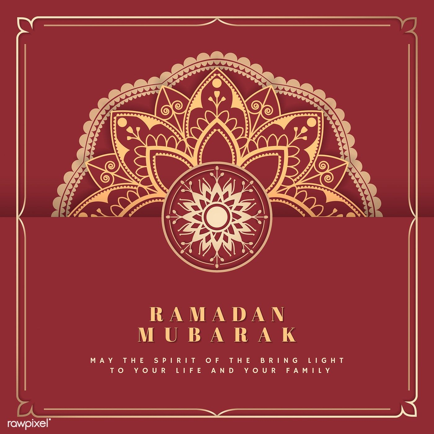 Download Premium Vector Of Red And Gold Eid Mubarak Postcard Vector 566242 Vector Free Eid Mubarak Eid Background