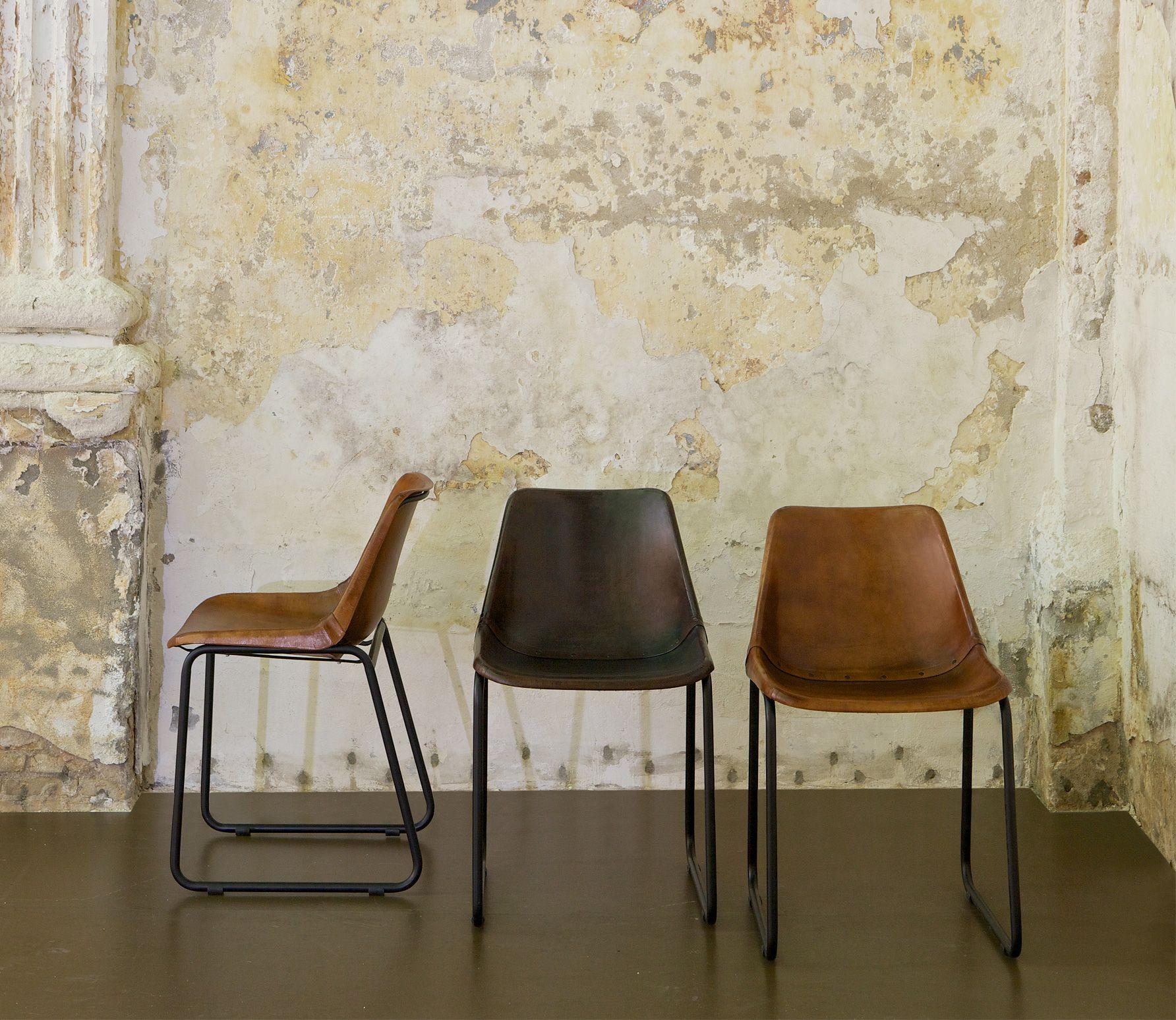 Voorbeeld van leren stoel rough bruin bepurehome for Eettafel stoelen cognac