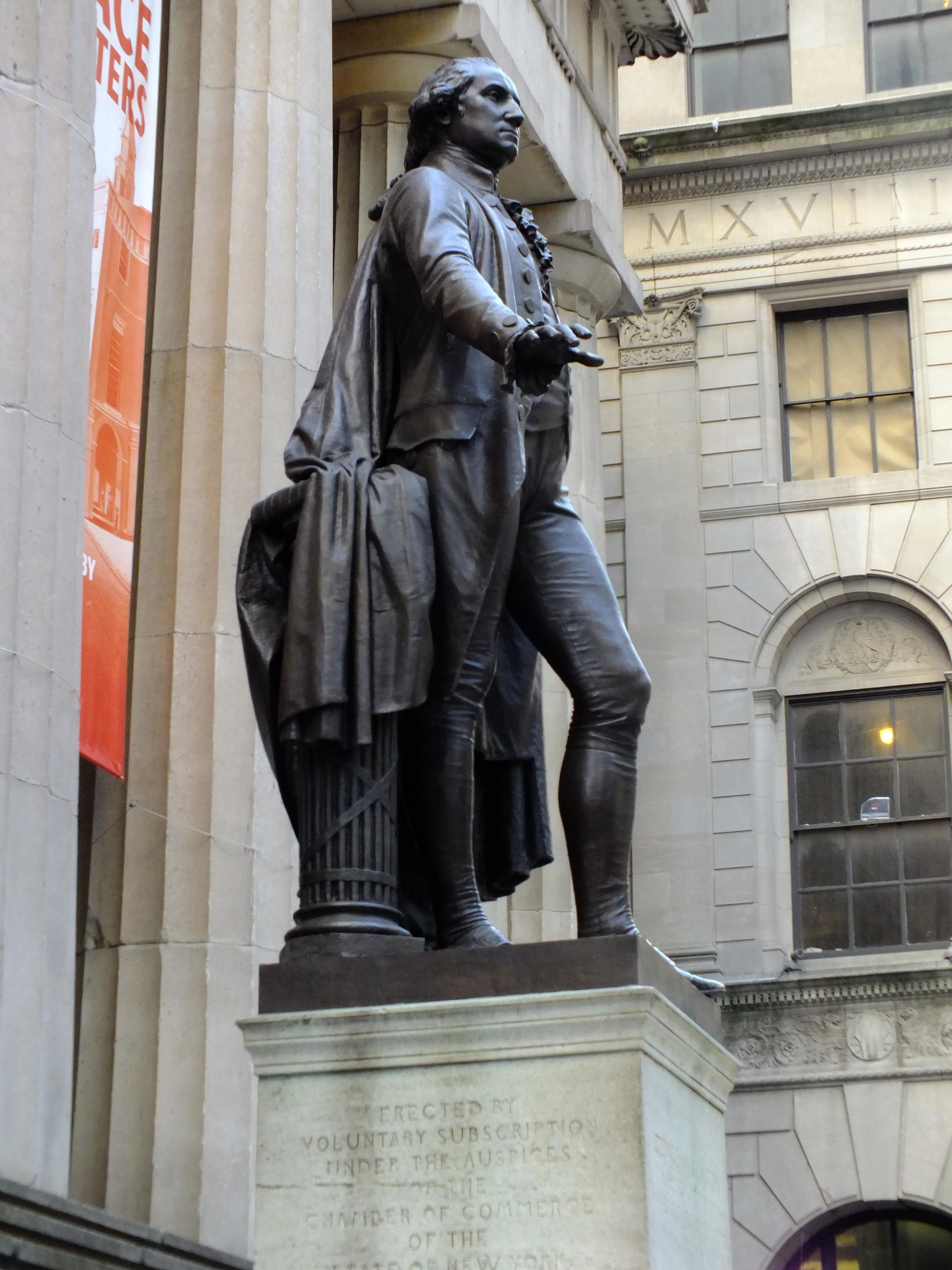Federal Hall On Wall St In New York City Historical Statues New York City I New York