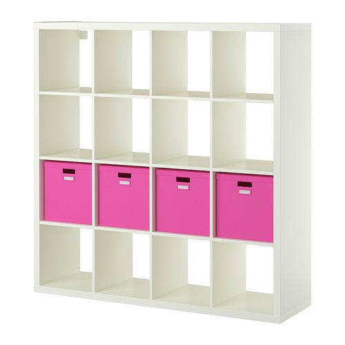 KALLAX / TJENA Shelf unit with 4 inserts - white - IKEA | Berkeley ...