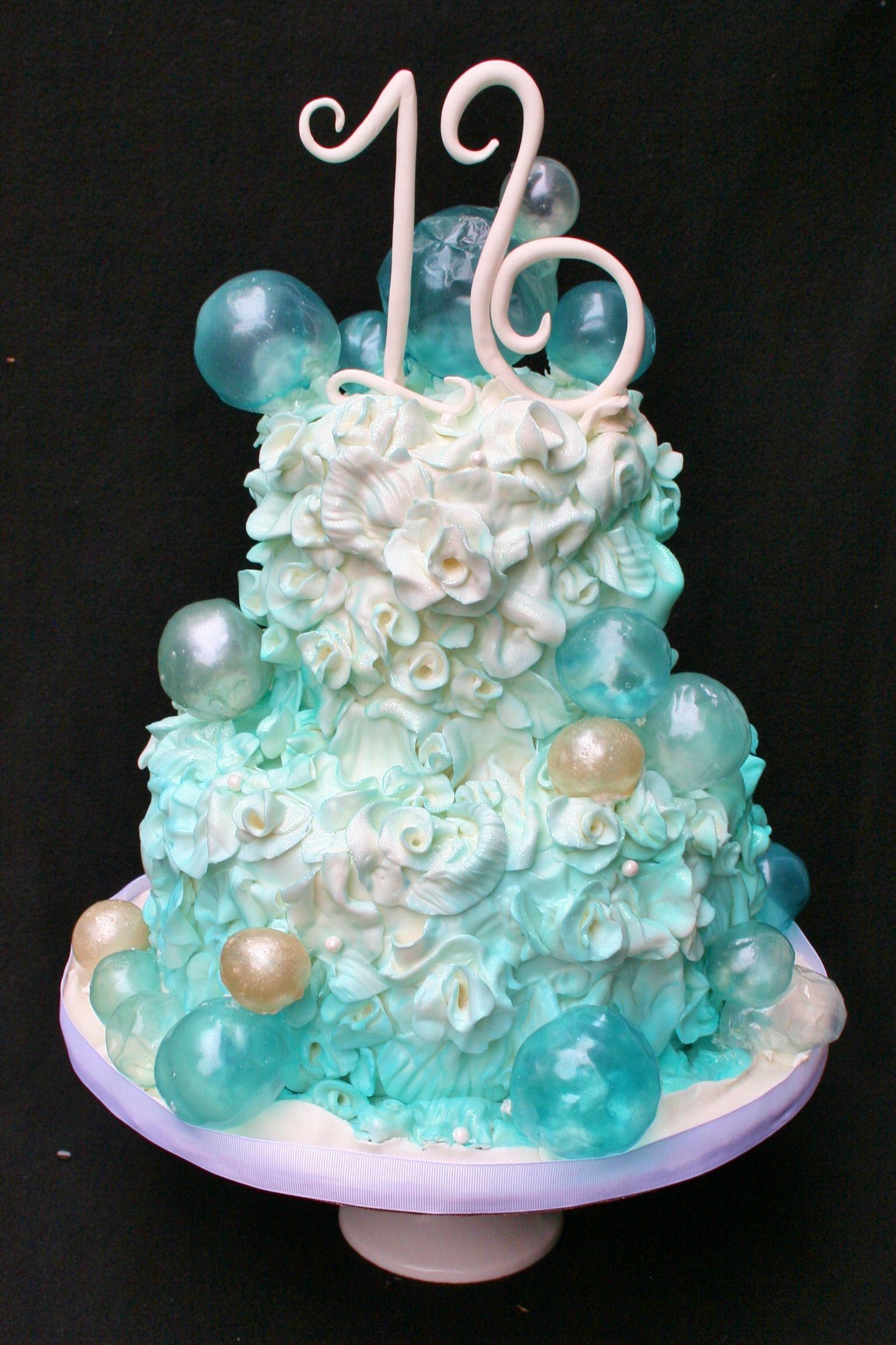 Gelatin Bubble Sweet 16 Cake