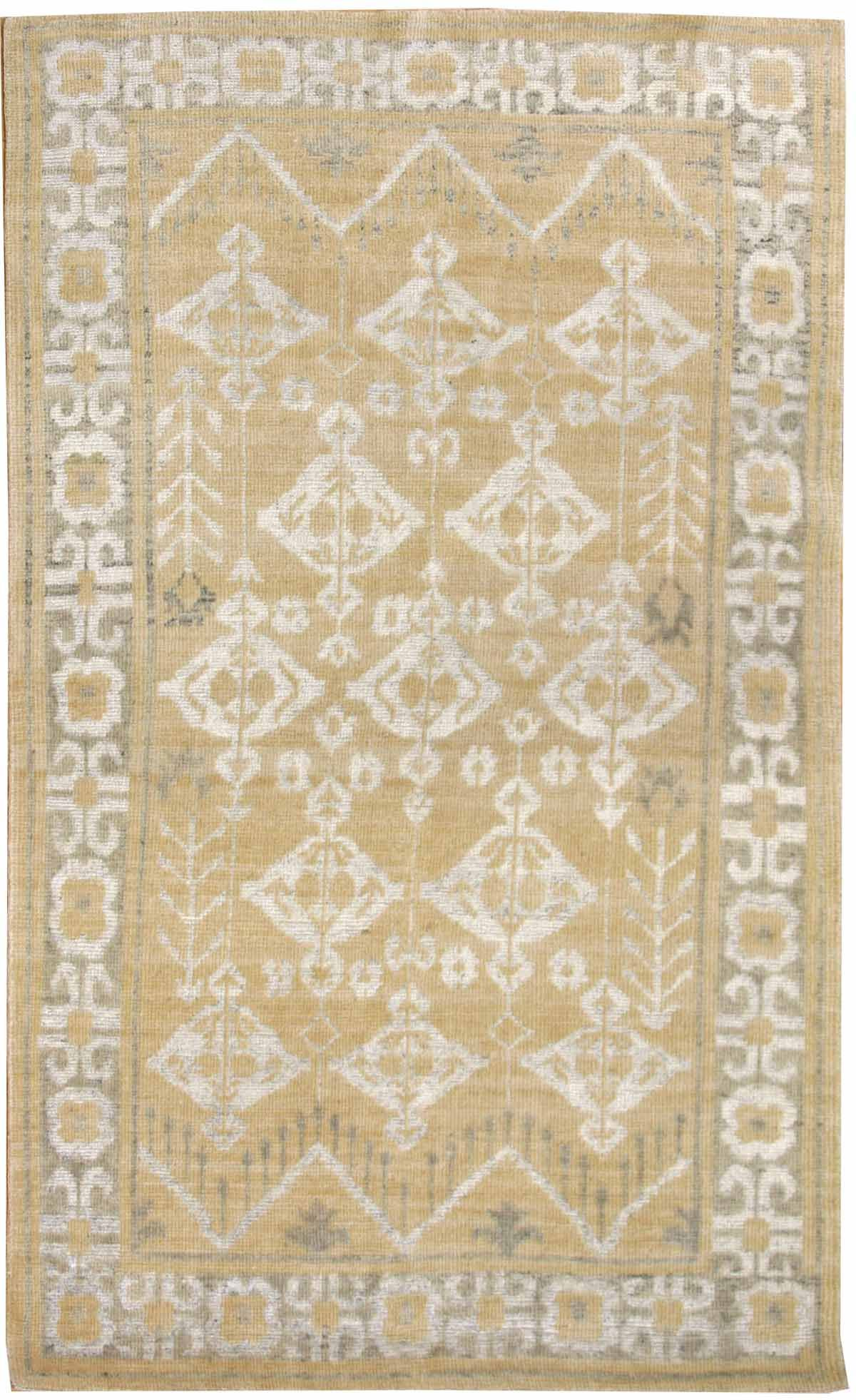 Best Value Modern Rugs Gallery Transitional Design Rug Hand Knotted In India