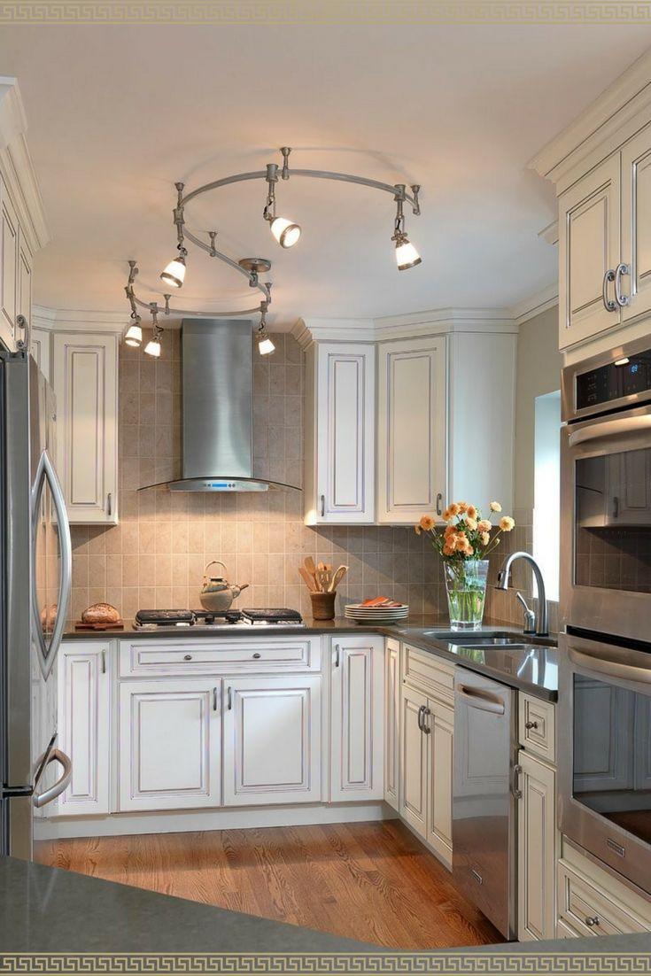 I Love This White Kitchen Stainless Steel Appliances Luces De Cocina Cortinas Para Cocina Diseno De Cocina