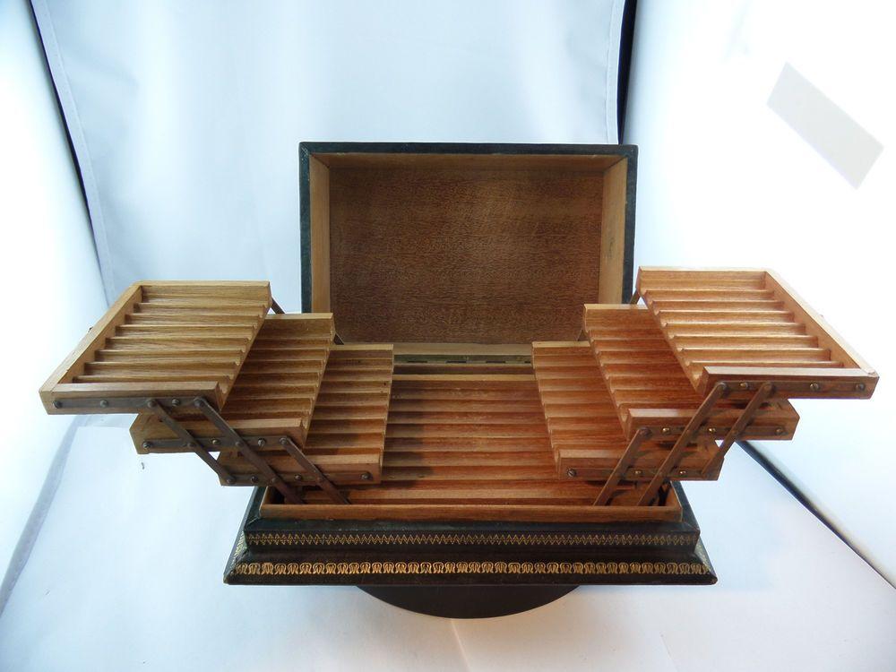 Zigaretten Box? Zigarettenetui? Stifftetui? Holz und Leder ...